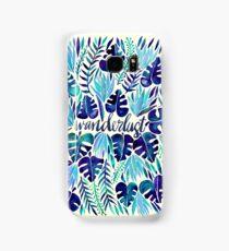 Tropical Wanderlust – Blue Samsung Galaxy Case/Skin