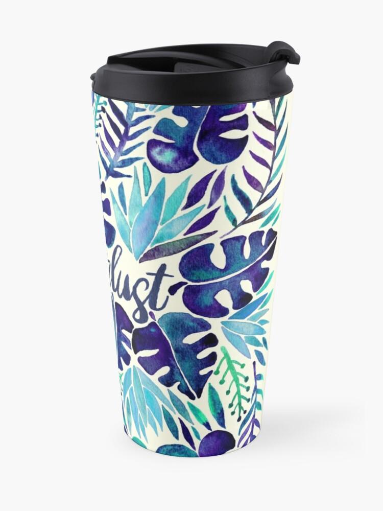 Alternate view of Tropical Wanderlust – Blue Travel Mug