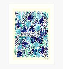 Tropical Wanderlust – Blue Art Print