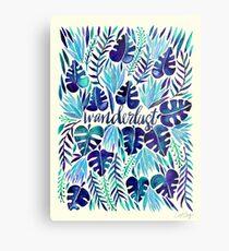 Tropical Wanderlust – Blue Metal Print