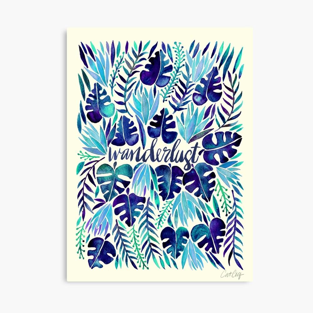 Tropical Wanderlust – Blue Canvas Print
