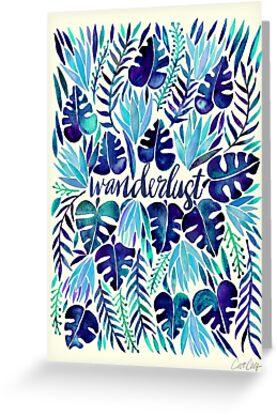 «Tropical Wanderlust - Azul» de Cat Coquillette