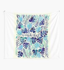 Tropical Wanderlust – Blue Wall Tapestry