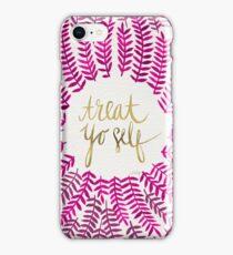 Treat Yo Self – Gold & Pink iPhone Case/Skin