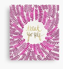 Treat Yo Self – Gold & Pink Canvas Print
