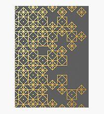 Geometric Gold Photographic Print