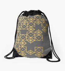 Mochila saco Oro geométrico