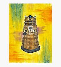 Rainbow Dalek  Photographic Print