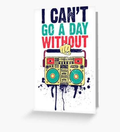 Without Music Greeting Card