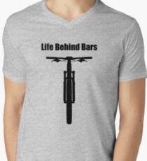 Life Behind Bars Mountain Bike Men's V-Neck T-Shirt