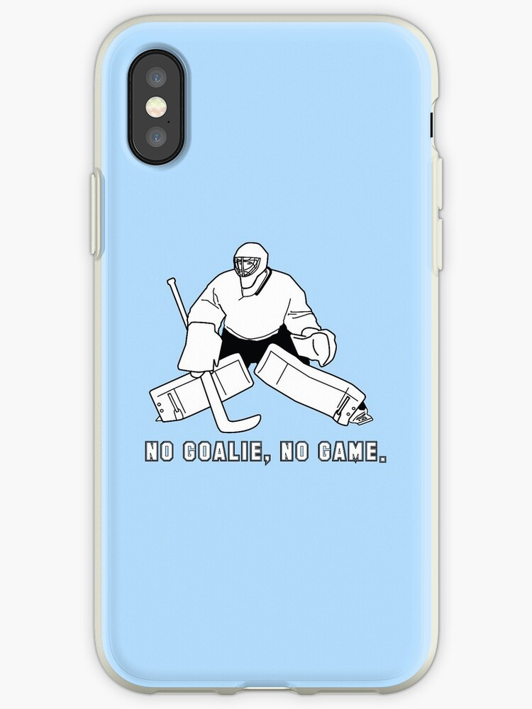 No Goalie, No Game Phone Case by Shellie Lewis