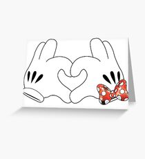 Minnie and Mickey Love Greeting Card