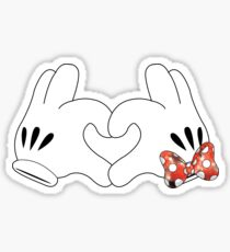 Minnie and Mickey Love Sticker