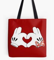 Minnie and Mickey Love Tote Bag