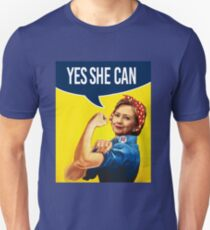 YES SHE CAN - Hillary the Riveter Unisex T-Shirt