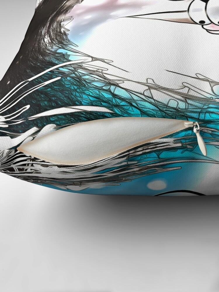 Alternate view of Kibo-Fish Throw Pillow