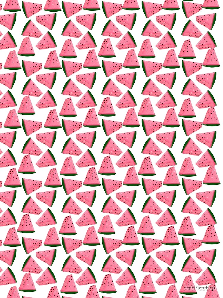 Cute Fruity Water Melon Chunks On Trend Design by Artification