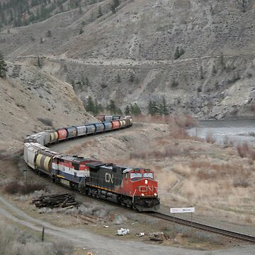 CN Train Thompson River by ispeak