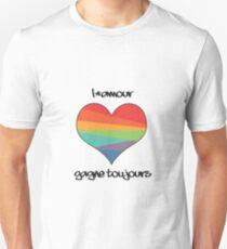 l'amour gagne toujours Unisex T-Shirt