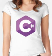 C# Women's Fitted Scoop T-Shirt