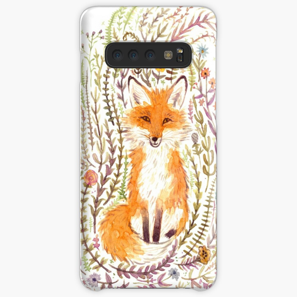 Fox and Flowers II Case & Skin for Samsung Galaxy