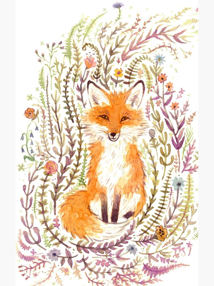 Fox and Flowers II by leslieevans2