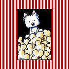 Westie Popcorn Lover by KiniArt