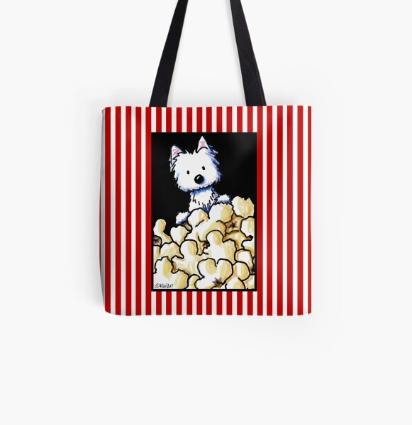 Westie Popcorn Lover All Over Print Tote Bag