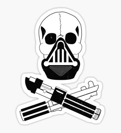 Vader and Cross Sabers_Alternate (Dirty Version) Sticker