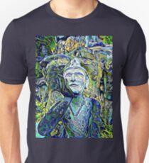 Buddha Asks Why (blue) Unisex T-Shirt
