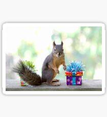 Eichhörnchen und Geschenke Sticker