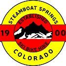 STEAMBOAT SPRINGS COLORADO SKI BIKE HIKE MOUNTAINS ESTABLISHED 1900 by MyHandmadeSigns