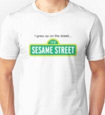 i grew up on the street Unisex T-Shirt