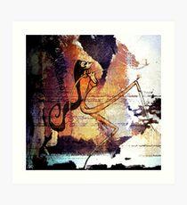Romantus Distressed Collection: Giuliana Art Print