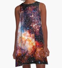 Cosmic Connection, Galaxy, Space, Nebula, Stars, Planet, Universe,  A-Line Dress