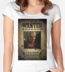 Buffy Spike Wanted 2 Women's Fitted Scoop T-Shirt