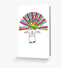 Royal Bunny Greeting Card