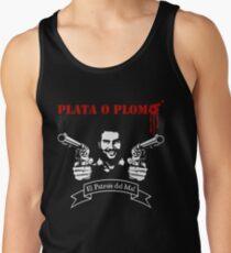 """PLATA O PLOMO """"Pablo Escobar"""" Tank Top"""
