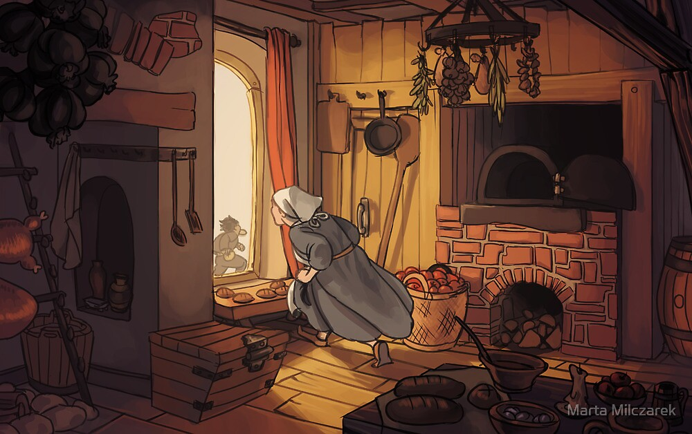 Medieval Kitchen by Marta Milczarek