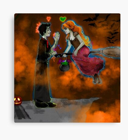 Halloween Picnic Canvas Print