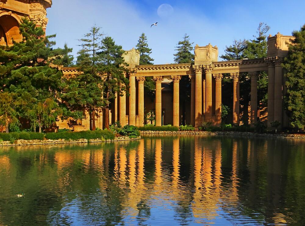 The Palace and Lake by David Denny