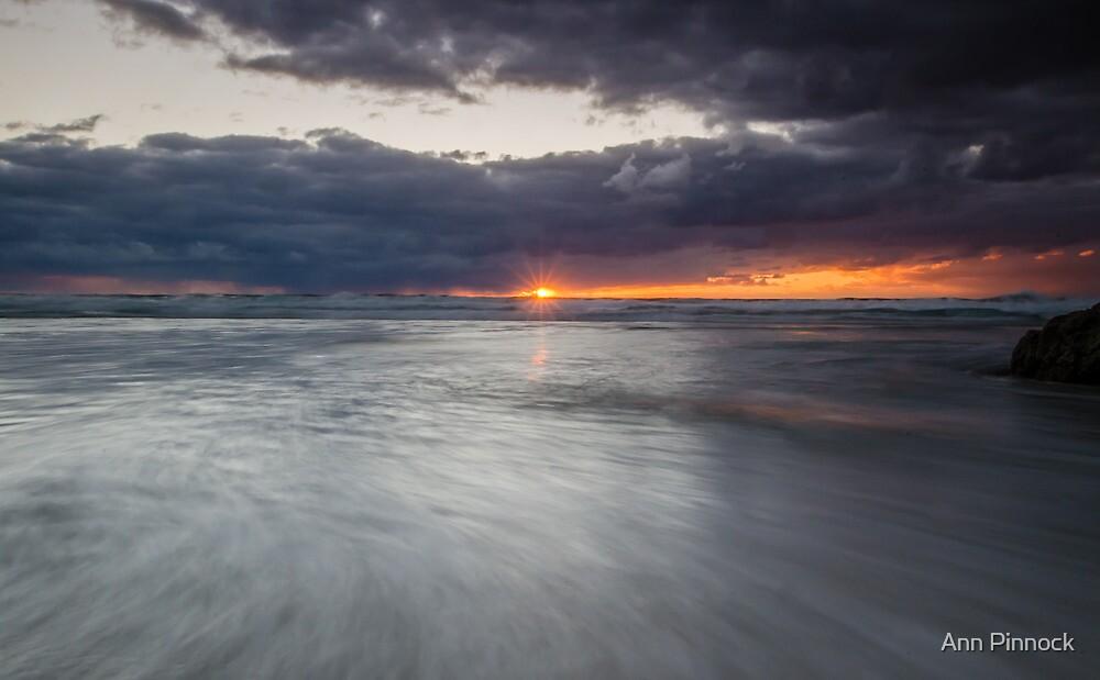 Sunrise at Honeymoon Bay, Moreton island by Ann Pinnock