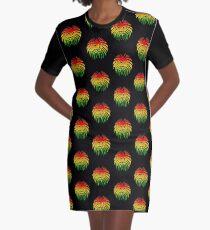 Like a Lion, Reggae, Rastafari, Africa, Jah, Jamaica,  Graphic T-Shirt Dress