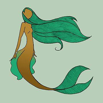 Mermaid Series - Wistful by rigged-ink