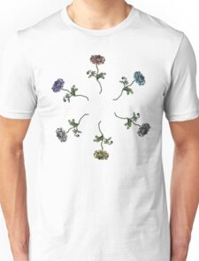 Scattered Flowers White Unisex T-Shirt