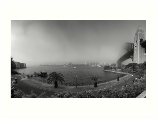 Sydney Harbour in fog by RodSydney