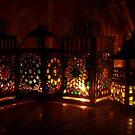 Stained Glass Mosaic Lanterns - Print by WonderMeMosaics