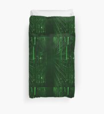 Green Lights - Matrix effect Duvet Cover