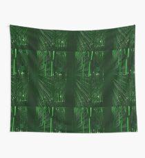 Green Lights - Matrix effect Wall Tapestry