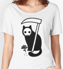 Grim Kitty Women's Relaxed Fit T-Shirt